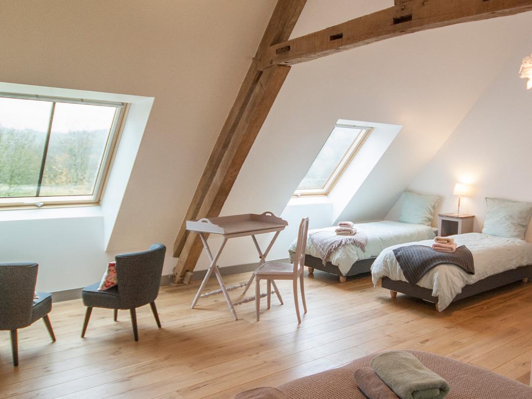 Valentine avec deux lits simples
